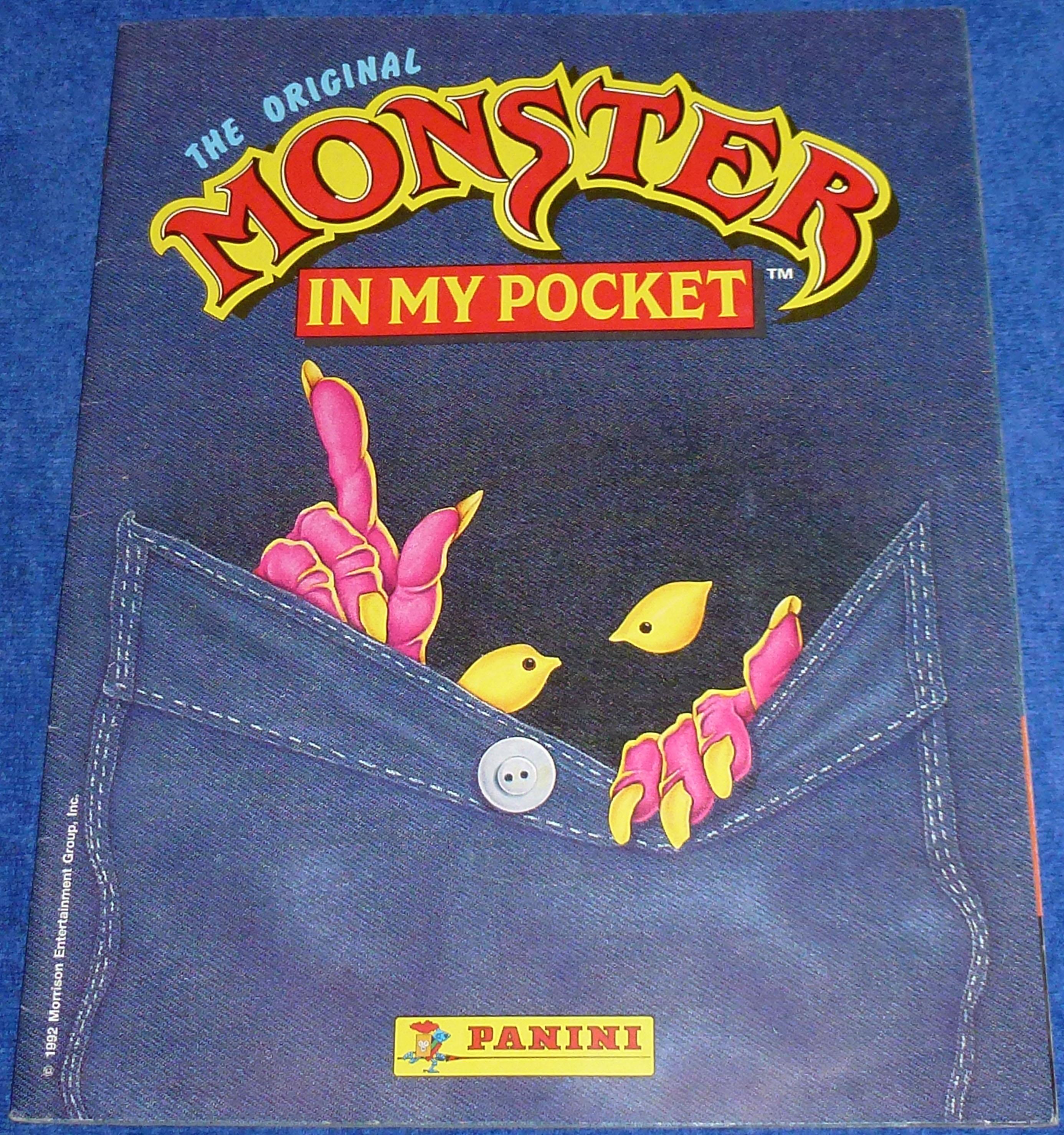 The original Monster in my Pocket - Álbumes de cromos